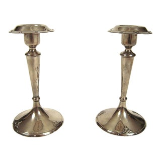 Pair of Sterling Silver Candlesticks by Shreve and Co., San Francisco