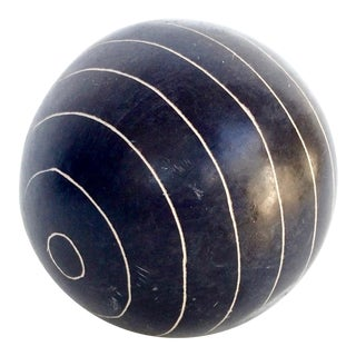 Modern Carved Stone Sphere