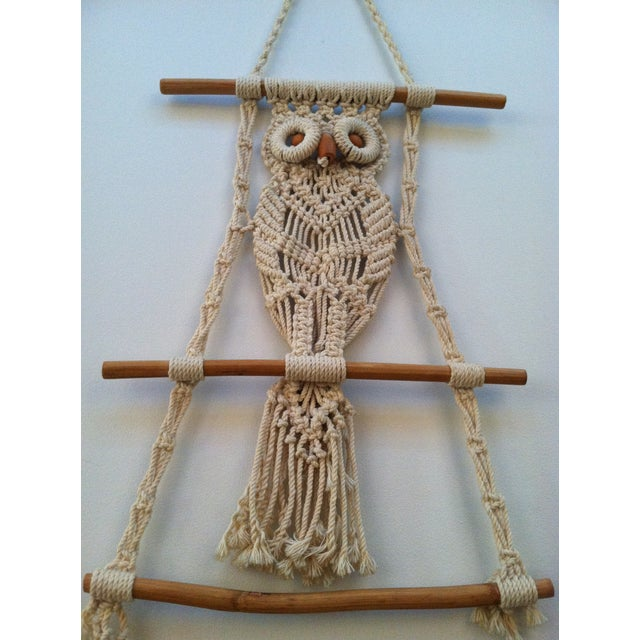 Image of 70's Macrame Wall Owl