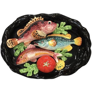French Vallauris Majolica Fish Platter
