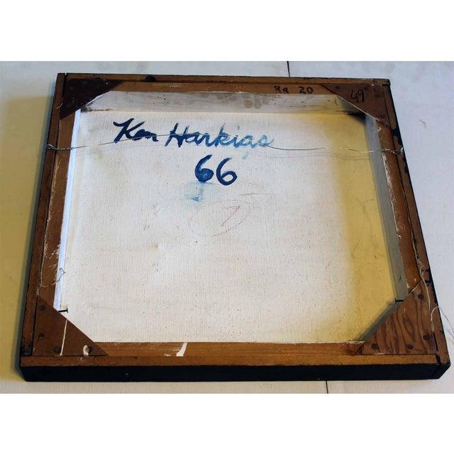 1966 Ken Harkias Abstract Acrylic Painting - Image 3 of 4
