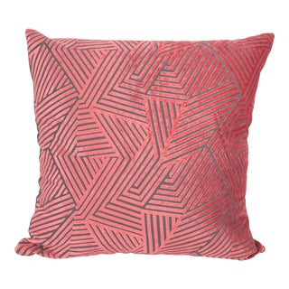 "Piper Collection Coral Velvet ""Olivia"" Pillow"