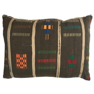 Vintage African Colorful Stitch Pillow