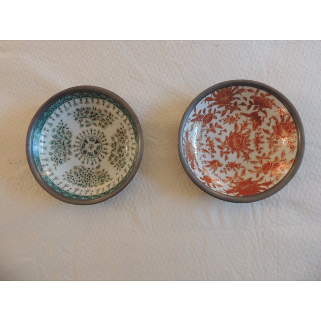 Vintage Imari Dishes Encased in Pewter - A Pair - Image 2 of 4