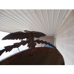 Image of Antique Mahogany Federal Style Eagle Crested Mirror