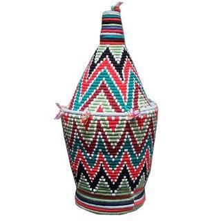 Large Woven Moroccan Basket