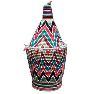 Large Woven Moroccan Basket