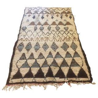 """Vintage Moroccan Wool Rug - 8'11"""" x 4'7"""""""