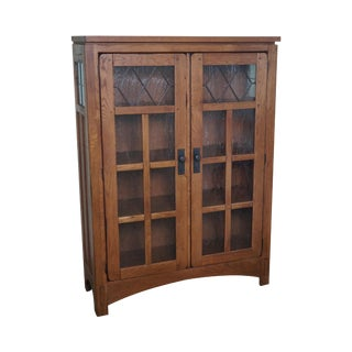Mission Oak Style 2 Door Bookcase
