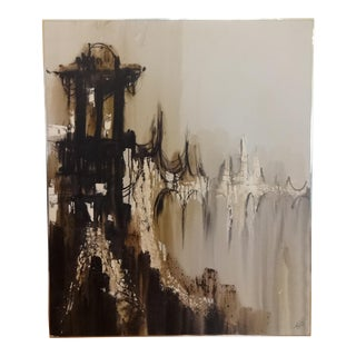 "Large Abstract Painting by ""Etta"" Estacian J. Benjamin"