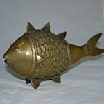 Image of Brass Dokra Indian Fish - A Pair