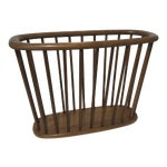 Image of Arthur Umanoff Walnut Magazine Rack