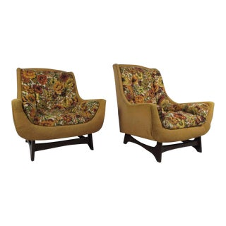 Adrian Pearsall Style Vintage Modern His & Hers Lounge Chairs - A Pair
