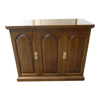 Expandable Walnut Buffet Cabinet