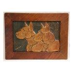 Image of Mid-Century Copper Great Dane Dog Plaque