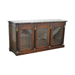 Henredon Regency Style Marble Top Mahogany Sideboard