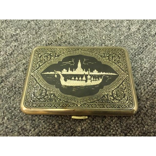 Siamese Sterling Cigarette Case - Image 2 of 6