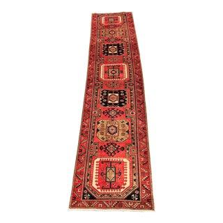"""Vintage Persian Karajeh Runner Rug -3'3""""x14'"""