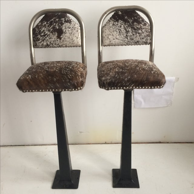 Antique 1930' S Stools - Pair - Image 2 of 8