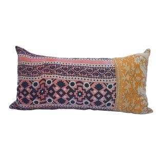Kantha Quilt Lumbar Pillow