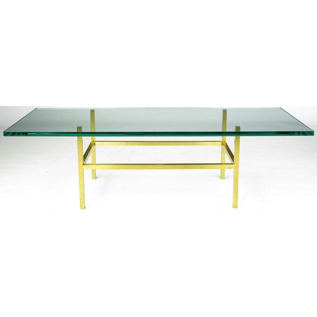 Image of Solid Brass Square Bar Coffee Table After Dunbar