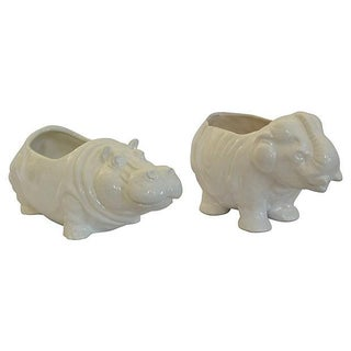 Elephant & Hippo Planters