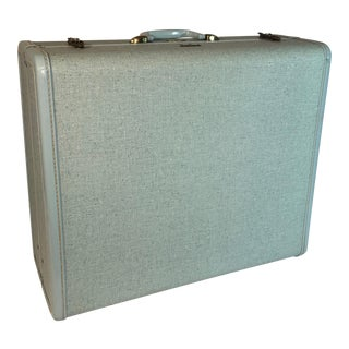 Vintage Powder Blue Samsonite Suitcase