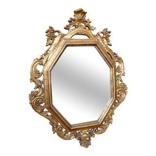 Gilded Octagonal Wall Mirror
