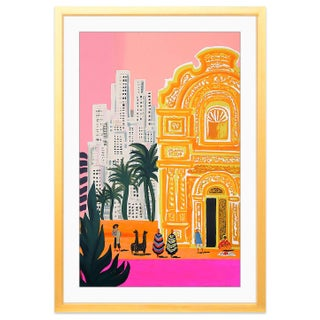 Colorful South American Print With Gold Frame