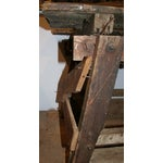 Image of Antique Primitive Saw Table and Side Table