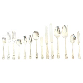 Antique Monogrammed Flatware - Set of 82