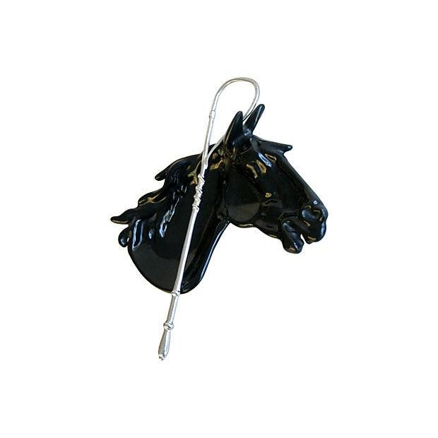 1950s Enameled Horse & Crop Catchall Dish - Image 6 of 7