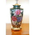 Image of Reliance Hand Painted Hydrangeas Lamps - Pair