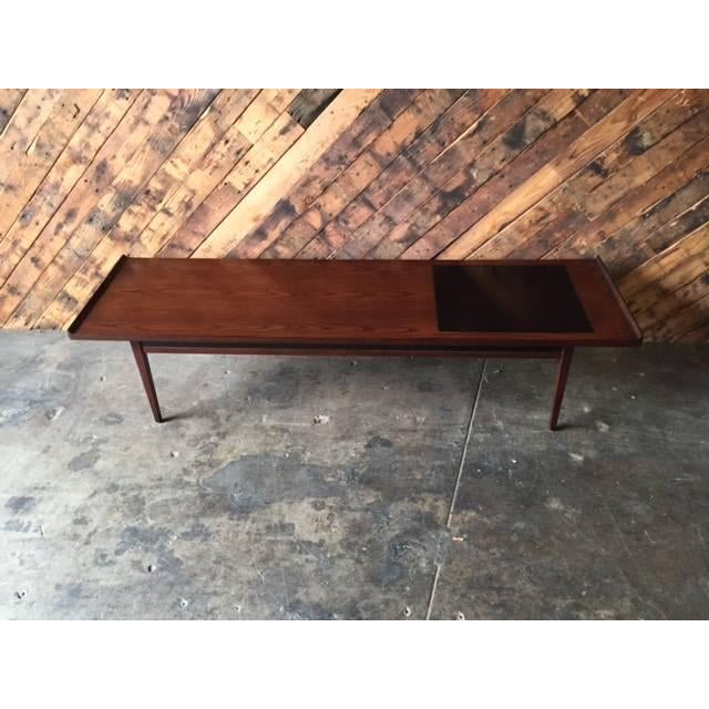 """Mid-Century Refinished """"Surfboard"""" Coffee Table - Image 2 of 5"""