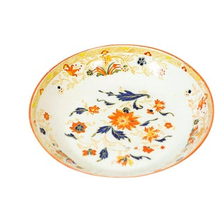 19th Century English Floral Bowl