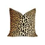 Image of Custom Braemore Leopard Velvet Down Pillow