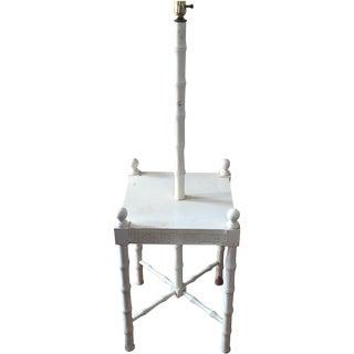 Greek Key Floor Lamp With Table Top