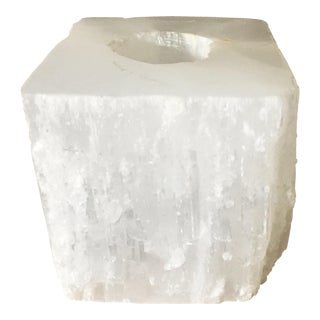 White Crystal Votive Candle Holder