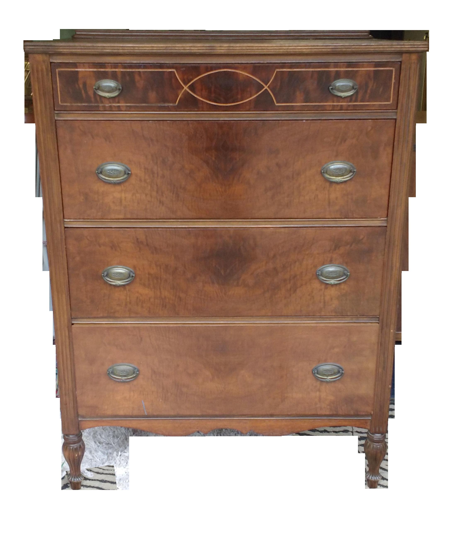 Vintage Highboy Dresser by Marvel Furniture Co