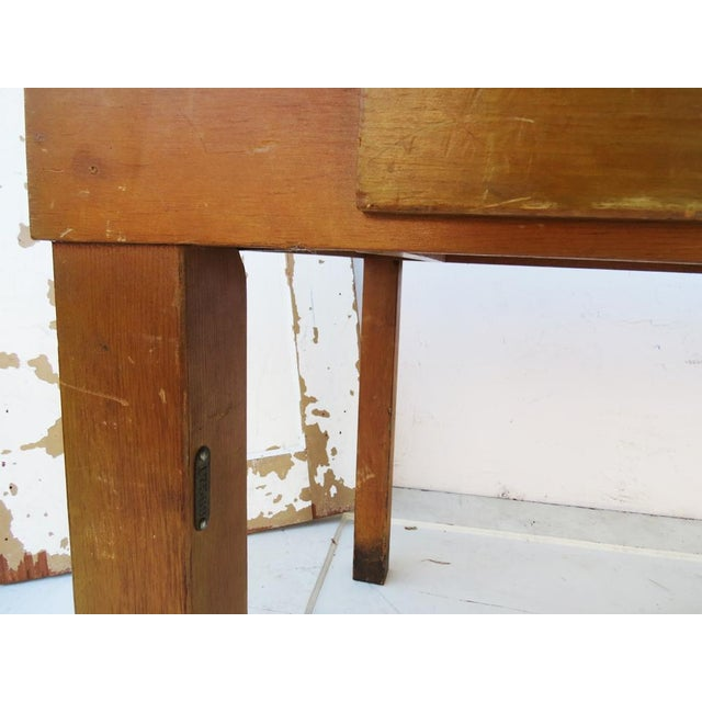 Vintage 1940's Academia Library Table / Desk - Image 5 of 5