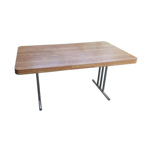 Vintage 1970s Metal & Formica Top Dining Table - Image 1 of 4