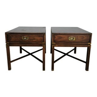 Vintage Heritage Campaign Style Nightstands- A Pair