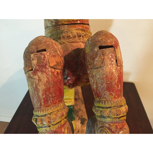 Indian Painted Wood Horse - Image 10 of 11