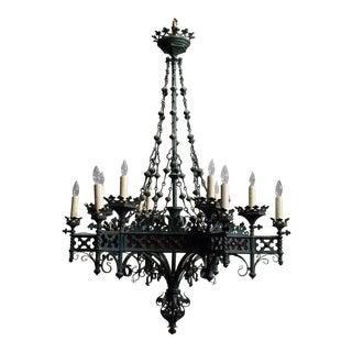 Antique chandelier, Gothic Revival period