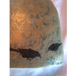 Image of Turquoise & Gold Ceramic Ravens Vase