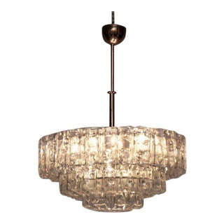 Rare Large Doria Glass Chandelier in Excellent Condition