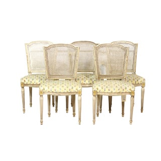 Caned Back Traditional Dining Chairs - Set of 5