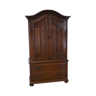 Ethan Allen Royal Charter Oak Jacobean Style Armoire