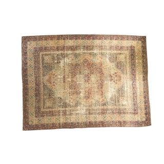 "Distressed Antique Kerman Carpet - 8'10"" x 11'11"""