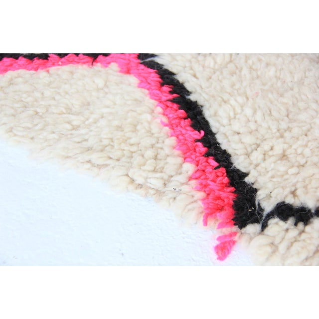 Vintage Moroccan Beni Ourain Pink Runner - Image 7 of 7